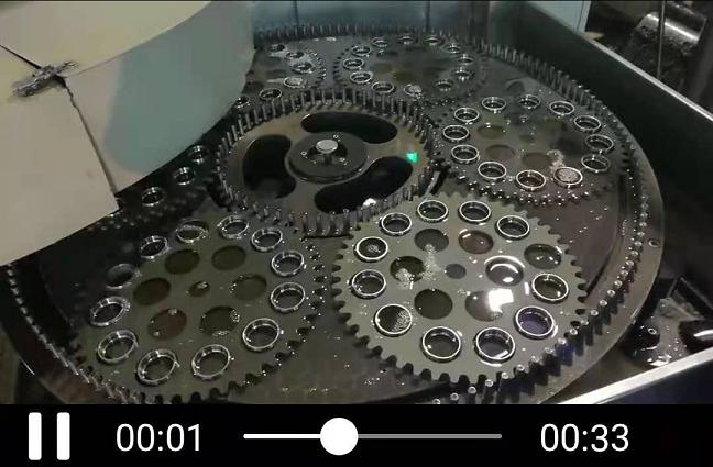 双面研磨机工作现场视频