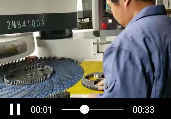智能双端研磨机加工现场视频